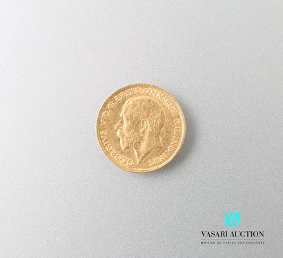 Pièce en or Georges V 1915  Poids : 3,98...