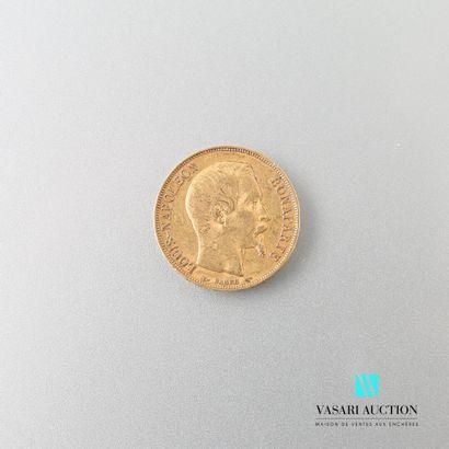 Pièce en or, 20 francs, Louis Napoléon Bonaparte,...