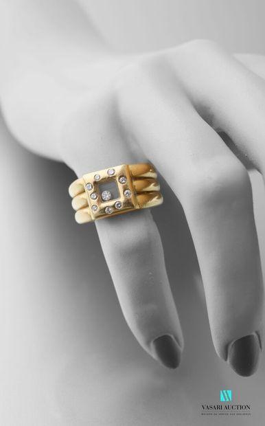Chopard, bague en or jaune 750 millièmes...