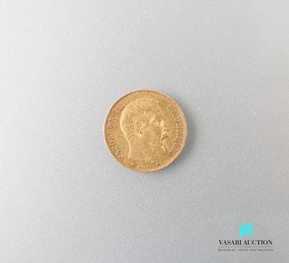 Pièce en or, 20 francs, Napoléon III, 1857...