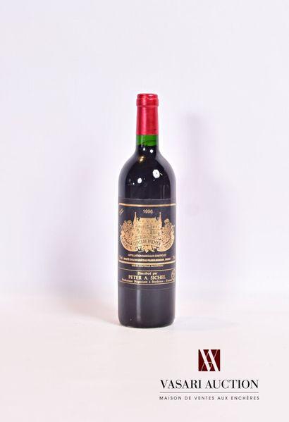 1 bouteilleChâteau PALMERMargaux GCC1996...