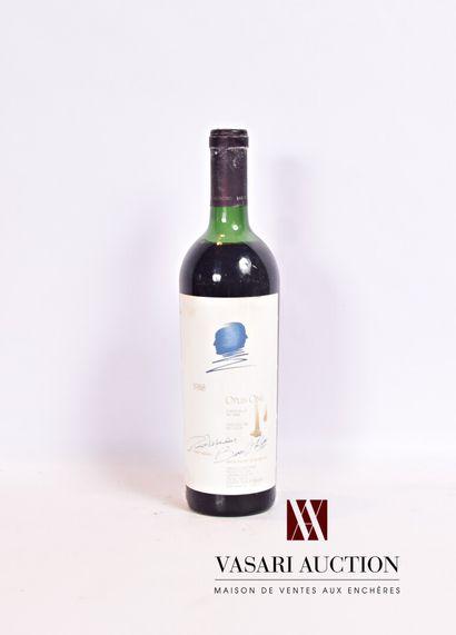 1 bouteilleOPUS ONE Napa Valley (Calfornie)1988...