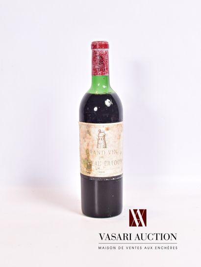 1 bouteilleChâteau LATOURPauillac 1er GCC1968...