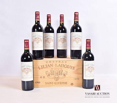 6 bouteillesChâteau LILIAN LADOUYSSt Estèphe1999...