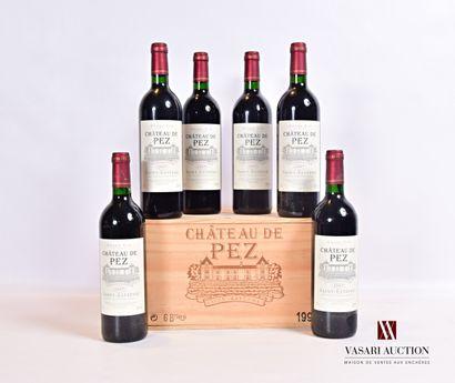 6 bouteillesChâteau DE PEZSt Estèphe1997...