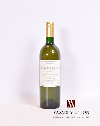 1 bouteilleCLOS FLORIDÈNEGraves blanc2000...