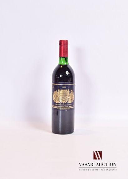 1 bouteilleChâteau PALMERMargaux GCC1982...