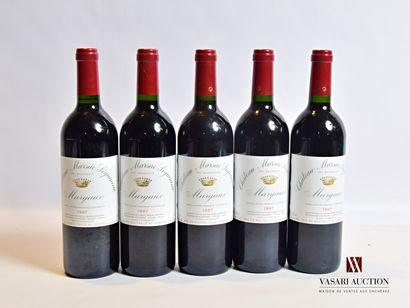 5 bouteillesChâteau MARSAC SEGUINEAUMargaux...