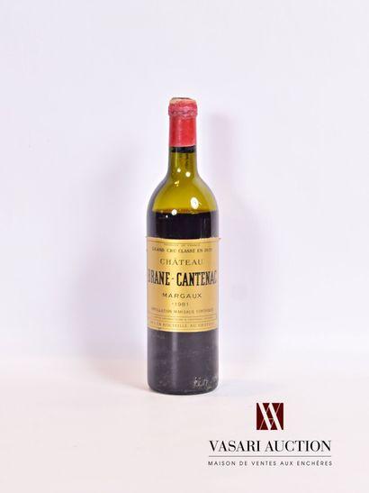 1 bouteilleChateau BRANE CANTENACMargaux...