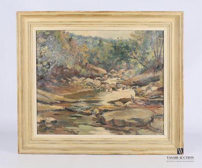 MAFLI Walter (1915-2017)  Paysage au ruisseau...