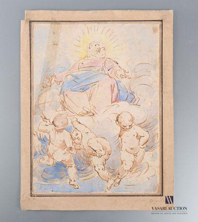 Ecole Italienne du XVIIIème siècle  L'Ascension...