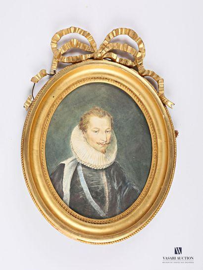 DE PERREY L (XIXème siècle)  Portrait d'Anne...