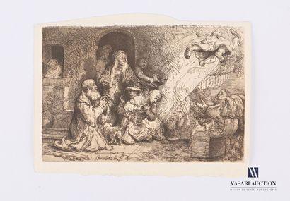 REMBRANDT VAN RIJN (1606 1669) d'après  Le...