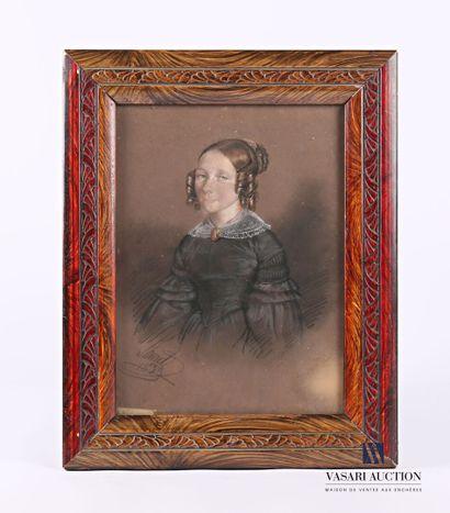 LAURET Emmanuel-Joseph (1809-1882)  Portrait...