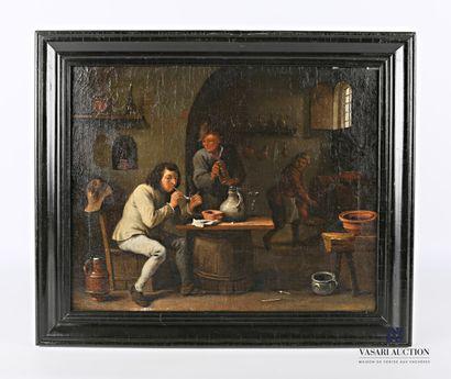 Ecole hollandaise du XIXème siècle  La taverne...