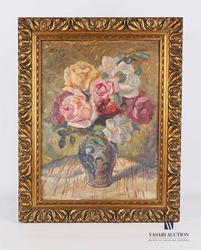 BAYER Albert (1885-1963)  Bouquet de roses...