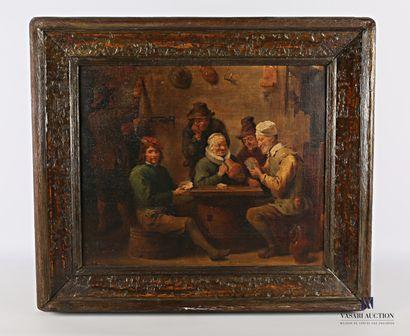 Ecole flamande du XIXème siècle  Les joueurs...