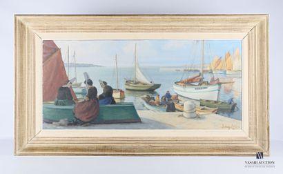 DAGOBERT (XXème siécle)  Vue de port breton...