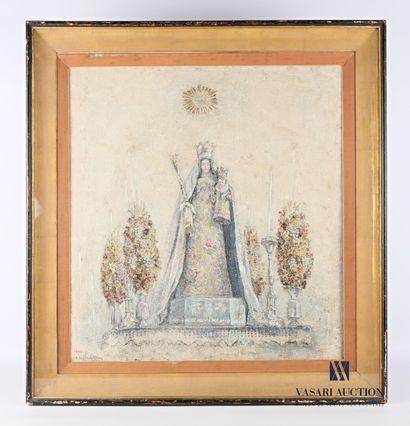 VON HUMBEECK-PIRON Marie (1888-1969)  Vierge...