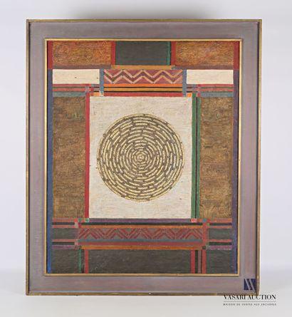 JANI (XXème siècle)  Mandala 3  Technique...