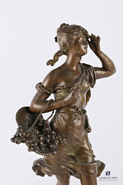 MOREAU Auguste (1831-1893) d'après  Les favories - Le panier de cerises  Régule...