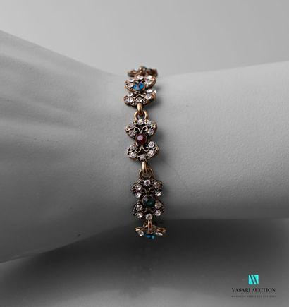 Bracelet en métal orné de motifs de papillons...
