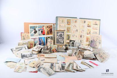 Lot comprenant un album de cartes postales...