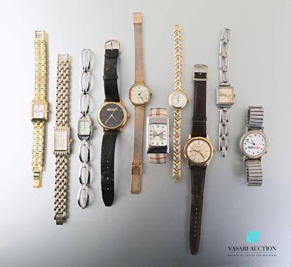 Lot de montres bracelet de dame comprenant,...
