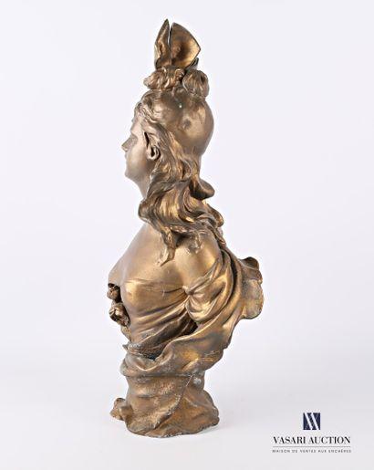VAN DEN KERCKHOVE Antoine Joseph dit NELSON (1849-c.1910) d'après  Buste d'élégante...