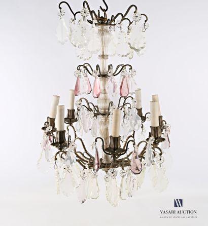 Lustre cage en métal à huit bras de lumière,...