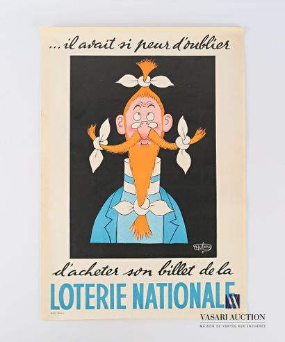 Affiche pour la loterie nationale. Albert...