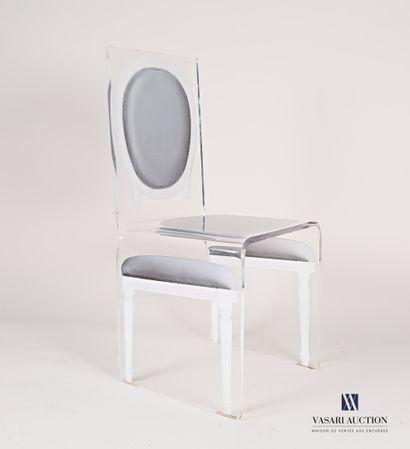 Chaise en altuglas à décor imprimé d'une...