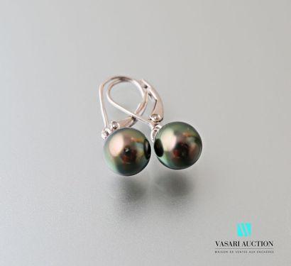 Paire de pendants d'oreilles en argent 925...