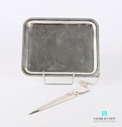 Porte courrier en métal argenté de forme...