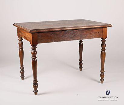 Table écrire en bois naturel mouluré et bois...