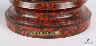 MOREAU (XIXème siècle) d'après  La rosée - La fermière  Deux régules à patine polychrome...