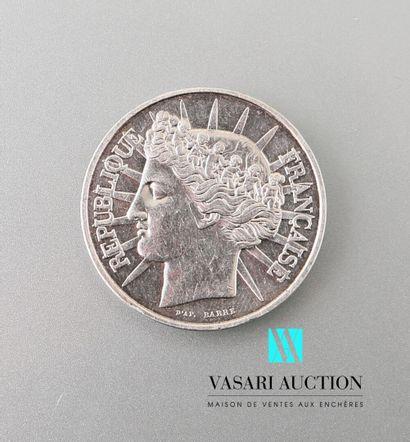 Pièce en argent de 100 francs, 1988.  Poids...