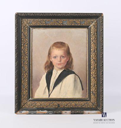 PESCADON (XIXème siècle)  Portrait d'enfant...