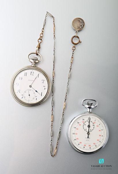 Lot comprenant deux montres de gousset, l'une...