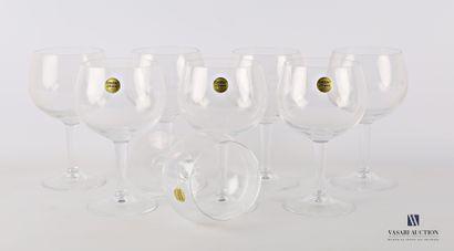 CRISTAL D'ARQUES  Huit verres de dégustation...