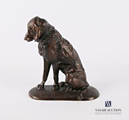 Sujet en bronze représentant un épagneul...