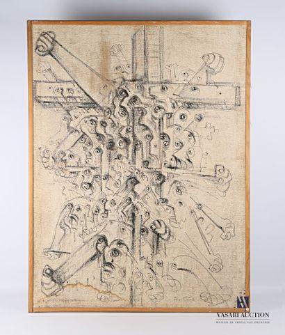 REJAS Pablo (XXème siècle)  La Croix - Composition...