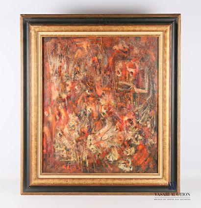 REJAS Pablo (XXème siècle)  Composition Rouge...