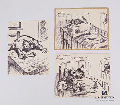 REJAS Pablo (XXème siècle)  Lot de trois...
