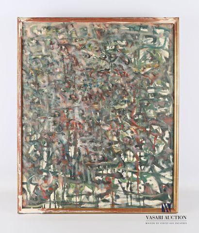 REJAS Pablo (XXème siècle)  Composition  Huile...
