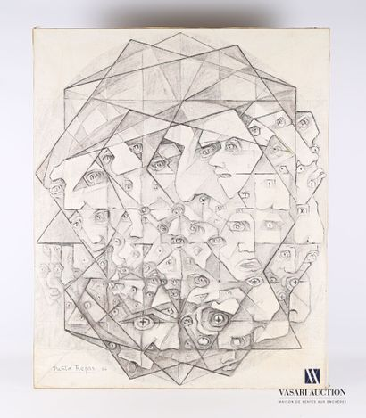 REJAS Pablo (XXème siècle)  Le Diamant  Huile...
