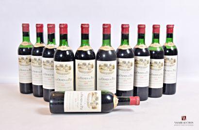 11 bouteillesChâteau LES ORMES DE PEZSt...