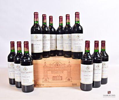 12 bouteillesChâteau LASCOMBESMargaux GCC1996...