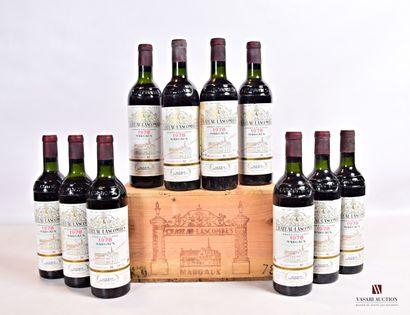 10 bouteillesChâteau LASCOMBESMargaux GCC1978...