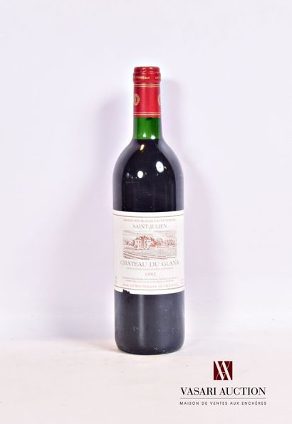 1 bouteilleChâteau DU GLANASt Julien1992...